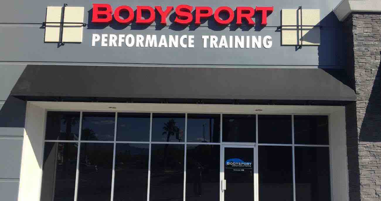 image of front of bodysport performance training building